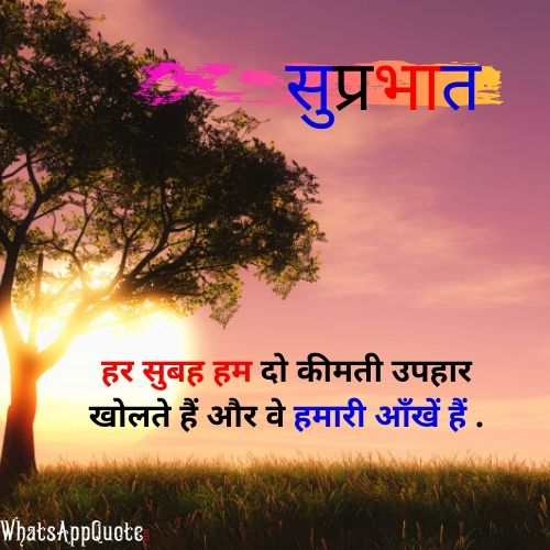 hindi quote for morning