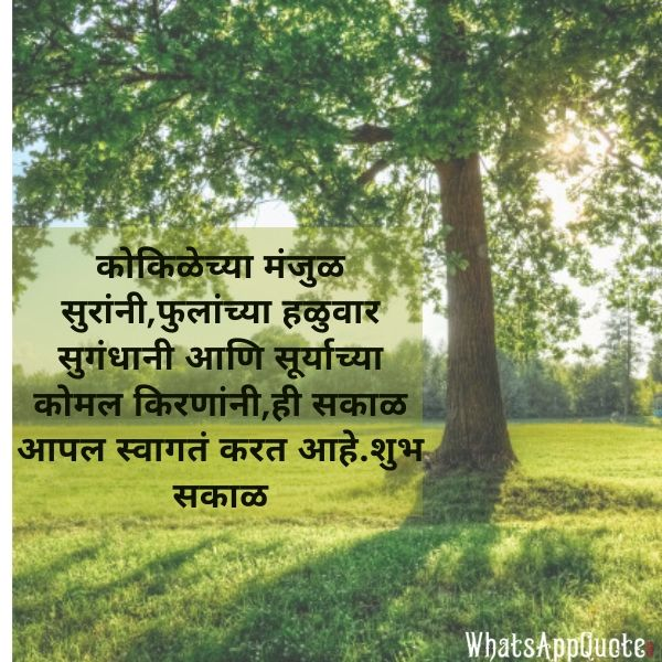 good morning messages in marathi images