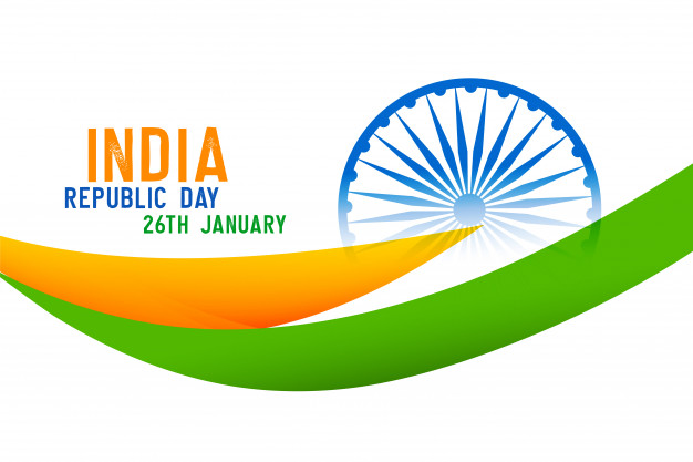 Indian country map with republic day