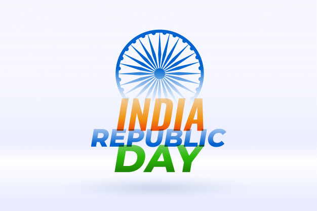 Republic day concept in flat design flag Downlods