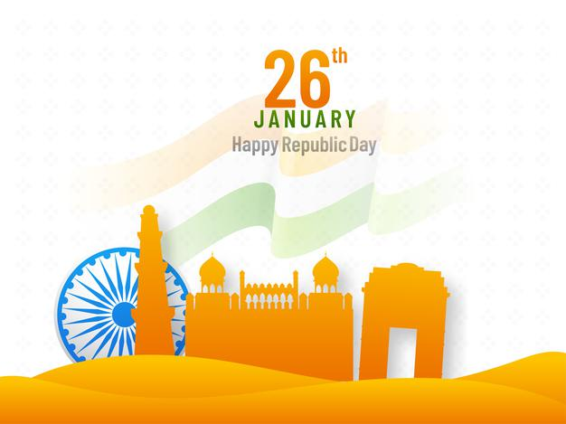 Republic day in paper style Images Downlods