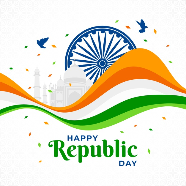 Happy republic day of india 3d flag photos Downlods
