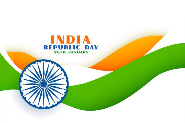 Happy republic day of india 3d flag free Downlods