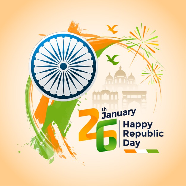 Hand drawn indian republic day image