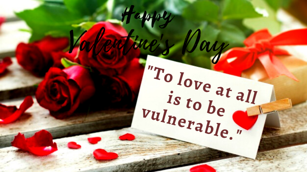 valentines day caption for business