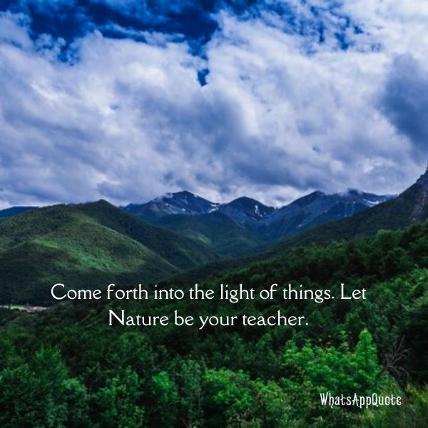 best nature quotes in english